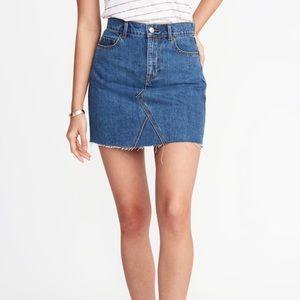 Old Navy High-Rise A-Line Denim Mini Skirt
